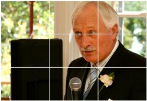 Darstellung der Drittel-Regel in der Fotografie und bei Videoaufnahmen