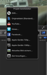 Bildschirmaufnahme Final Cut Pro: Video bereitstellen