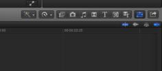 Bildschirmaufnahme Final Cut Pro X: Informationen ein- und ausblenden.