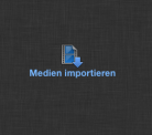 Bildschirmaufnahme FCPX: Medien importieren.