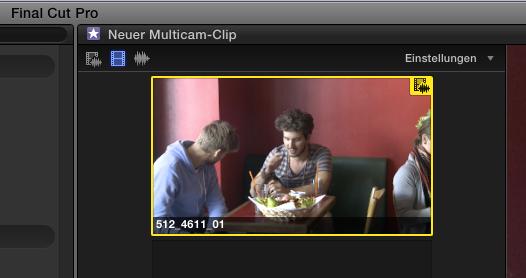 Modus Nur Video wechseln FCPX Multicam-Clip